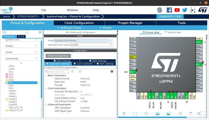 STM32CubeMX SPI1