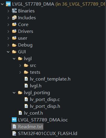 LVGL目录结构png