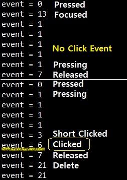 list item clock 시 clicked event가 발생하지 않음
